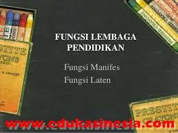Fungsi Lembaga Pendidikan Beserta Penjelasannya Terlengkap