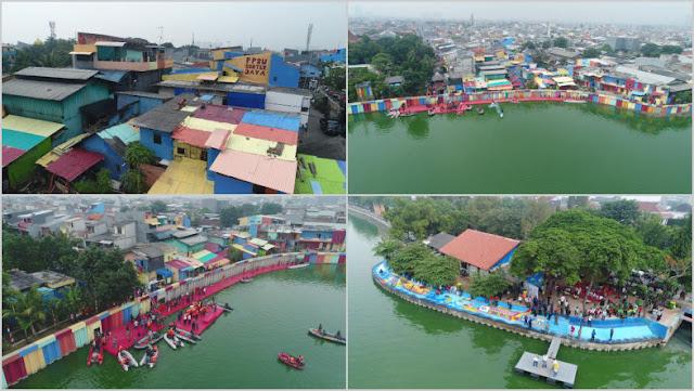 Keren! Disulap Anies, Penampakan Kampung di Pinggir Danau Sunter Mengundang Decak Kagum