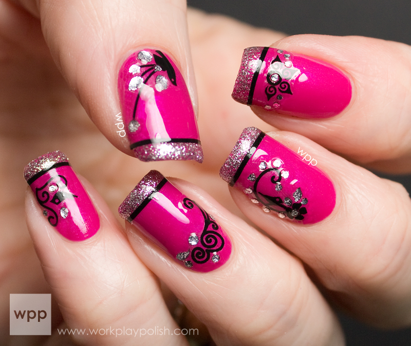 Zoya Katy with KISS Nail Art Stickers