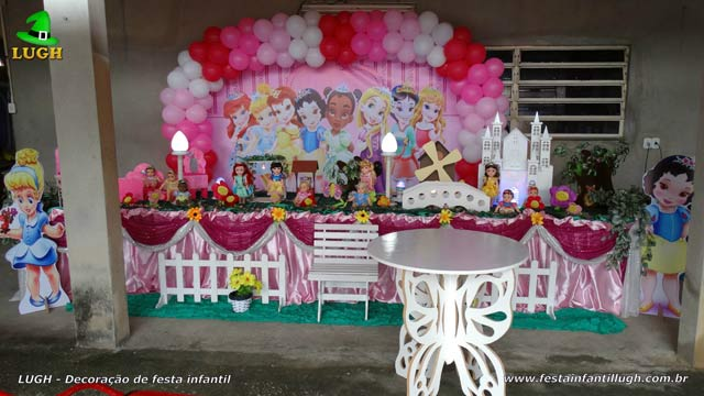 Princesas Disney Baby - Mesa de festa para aniversário infantil com o tema Princesas Baby