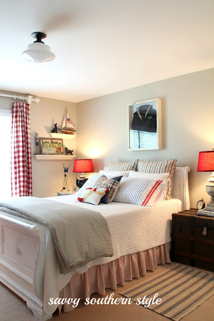 From Junk Room To Beautiful Bedroom The Big Reveal: I Love That Junk: Nautical Styled Bedroom