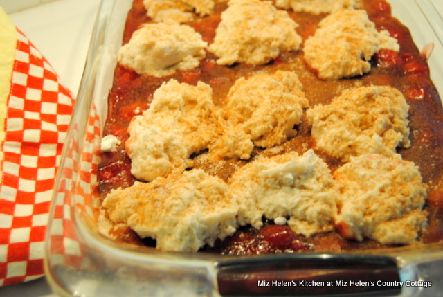 Grandma's Cherry Cobbler at Miz Helen's Country Cottage