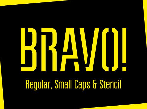 Bravo Stencil Font
