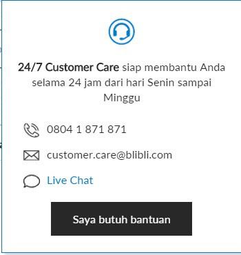 Customer Care siap 24 jam sehari dan 7 hari seminggu