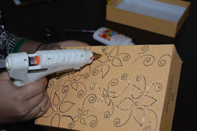 Using glue gun