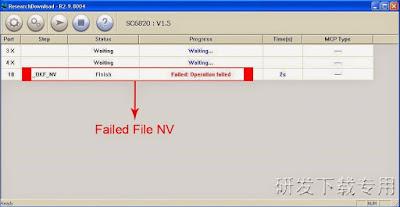 Cara Mengatasi Download NV_W failed saat flash dengan research download
