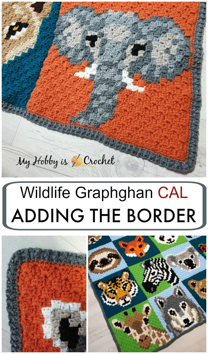 Wildlife Graphghan CAL: Adding the Border + Blanket Final Reveal