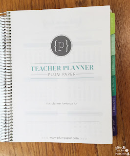 Plum Paper Planner Title Page