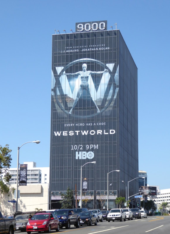 Giant Westworld HBO series billboard