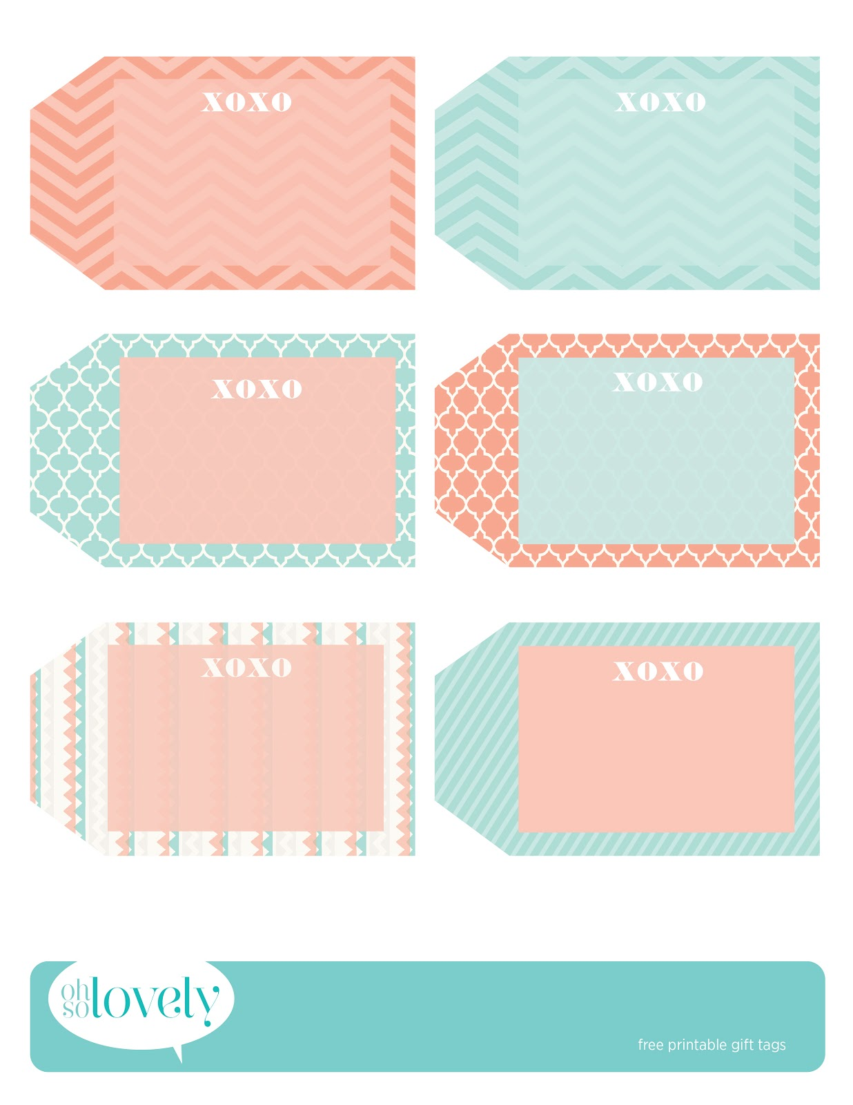 Freebies Gift Tags Oh So Lovely Blog