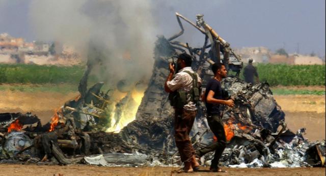 Helikopter Rusia Ditembak di Suriah