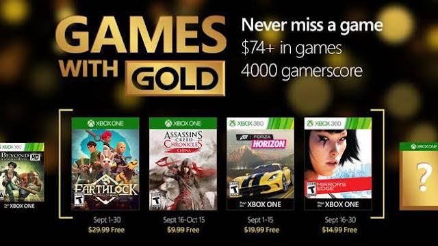 Desvelados los títulos Games with Gold de septiembre