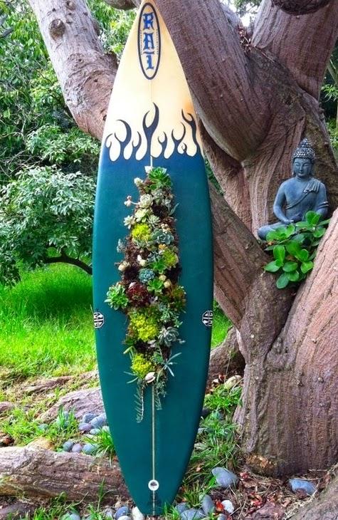 vertical garden surfboard
