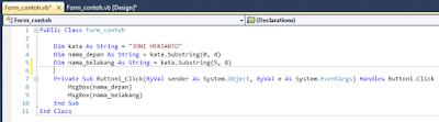 3 - Tutorial Java Netbeans – Cara Membagi Atau Memecah Text Menjadi Beberapa Bagian