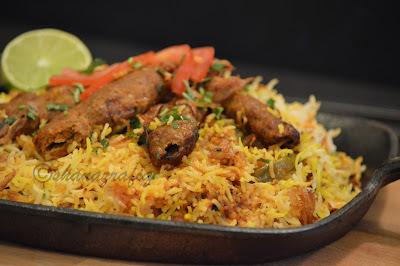 Mutton Seekh Kabab Biryani