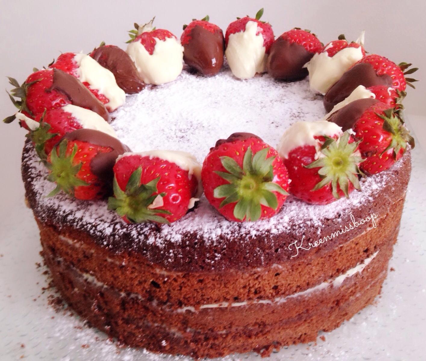 Recette Cake Design Fraise : Beauty Blog Plus Size : Cake Design / Naked Cake Choco ...