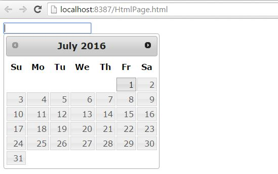 Calendar Control with Disabled past date