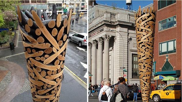 slike, skulpture od komada drveta