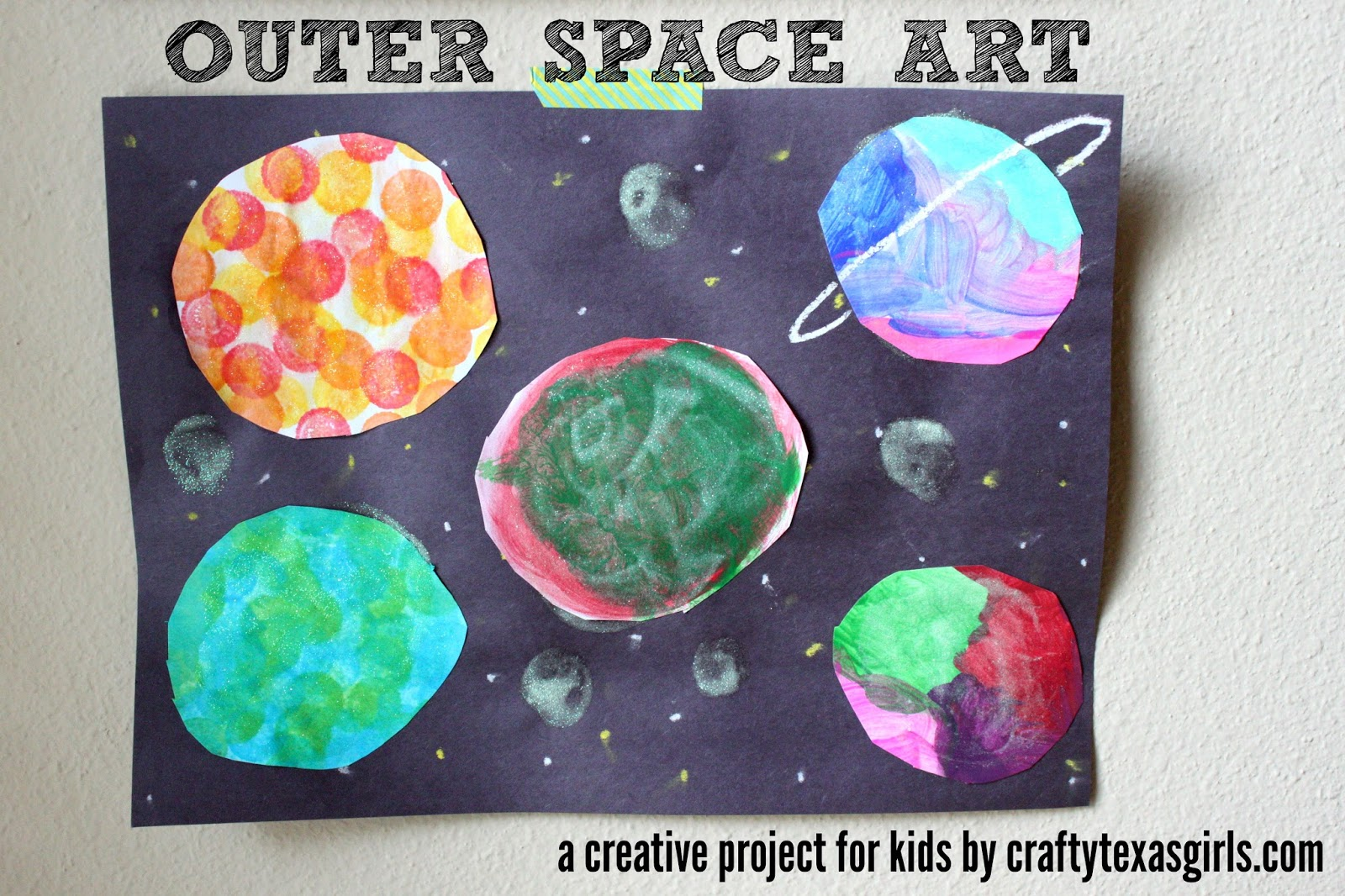 Crafty texas girls outer space art inspired by creative for Outer space project