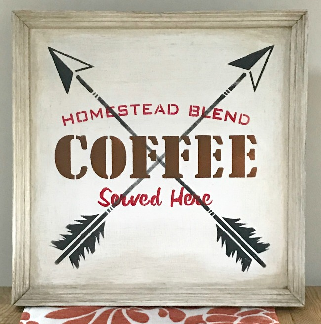 Gel stained Rustic Coffee Sign