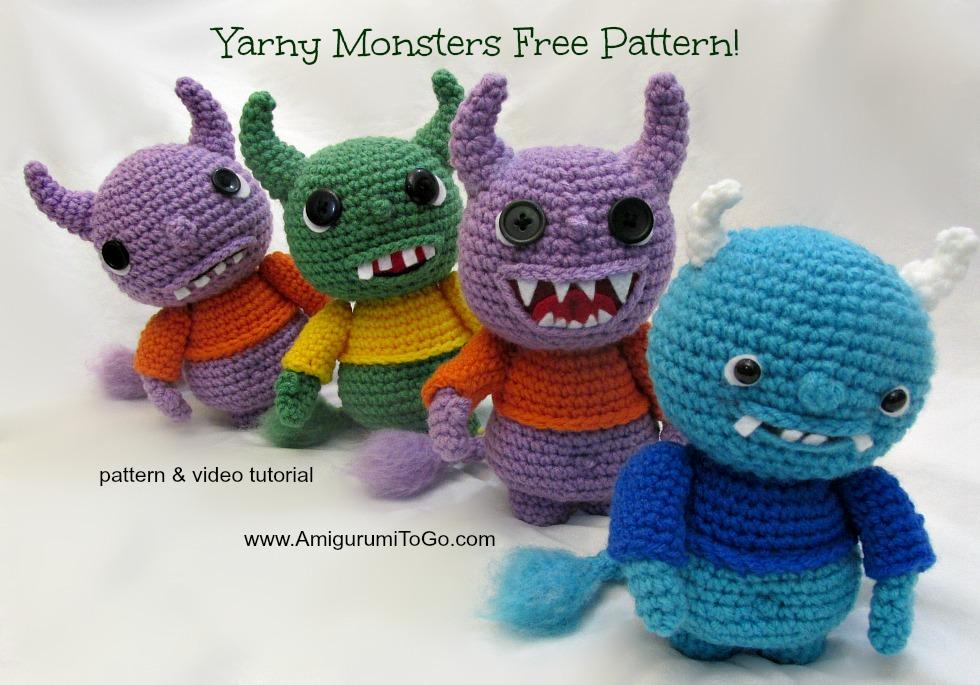 Amigurumi freely to go : Yarny monsters pattern and video amigurumi to go