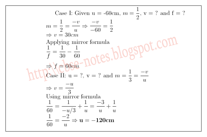 CBSE Papers, Questions, Answers, MCQ    : Class 10 - Physics
