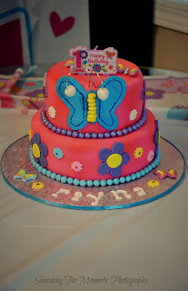 Turning Mommy cake therapy butterfly birthday cake - photo by searching for moments