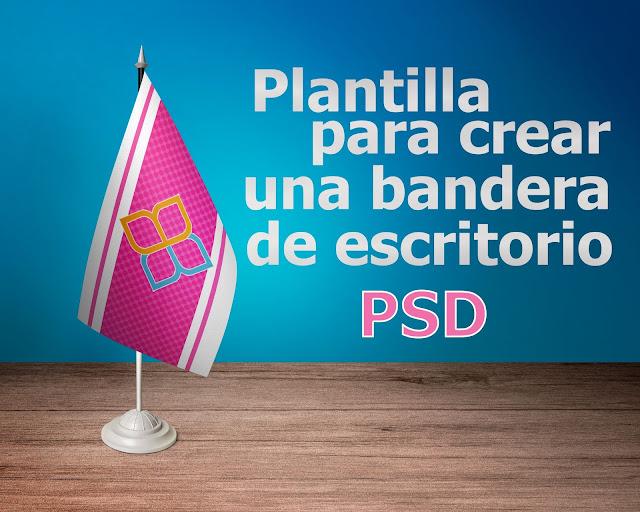 Plantilla para crear una bandera de escritorio PSD