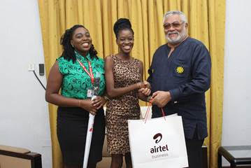 Airtel Premier Fetes Former President Jerry John Rawlings And Others For Their Loyalty