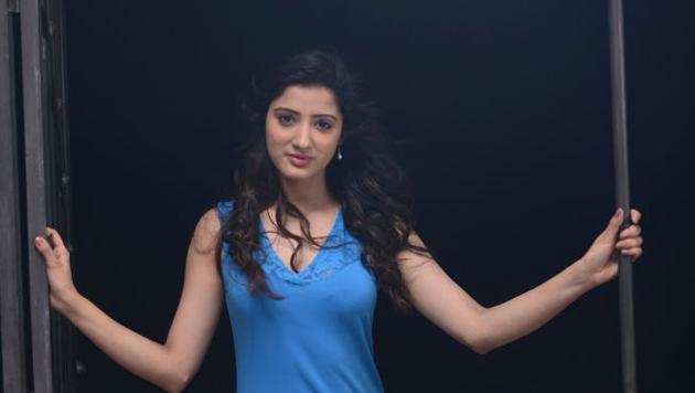 Richa Panai Hot Blue Dress Photos