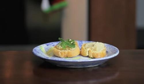 Crostini with Fava Bean Spread