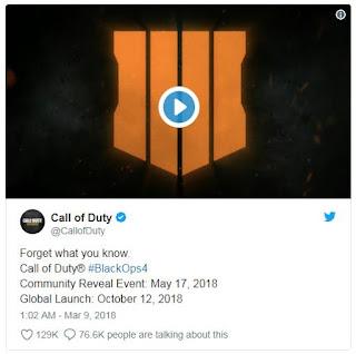Call of Duty: Black Ops 4 Resmi akan Hadir di bulan Oktober 9