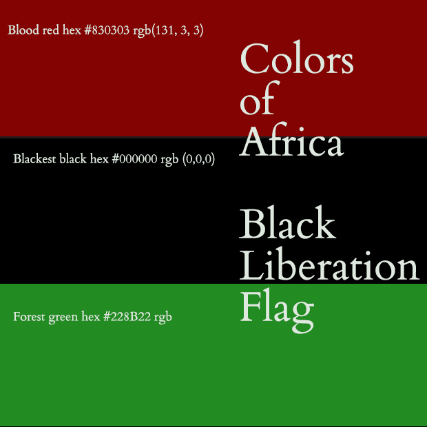 Colors of Africa  Red Black Green Flag of Black Liberation History and Meaning