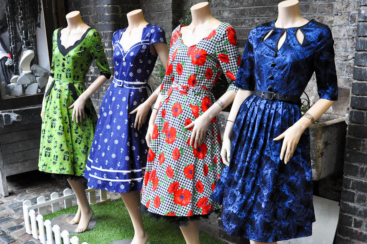 Dresses, Stables Market, Camden Town, London, England