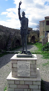 Nafpaktos_Lepanto_estatua Cervantes