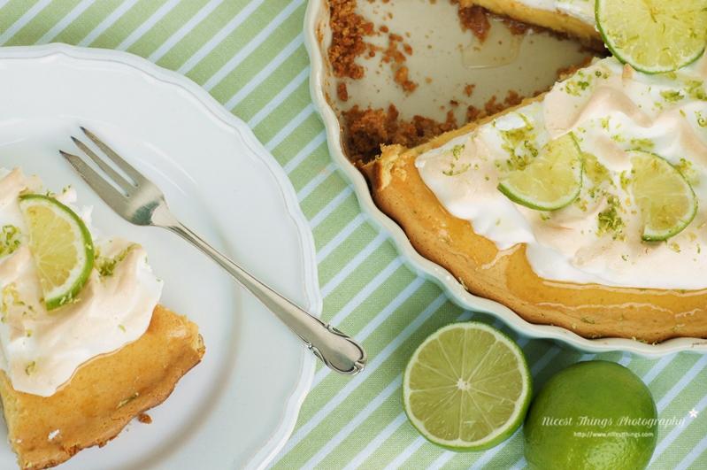 Key Lime Pie Rezept für Limetten Kuchen mit Baiserhaube