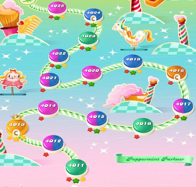 Candy Crush Saga level 4011-4025