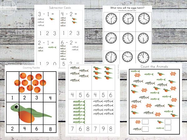 fish pack for prek letter of the week, kindergarten worksheets