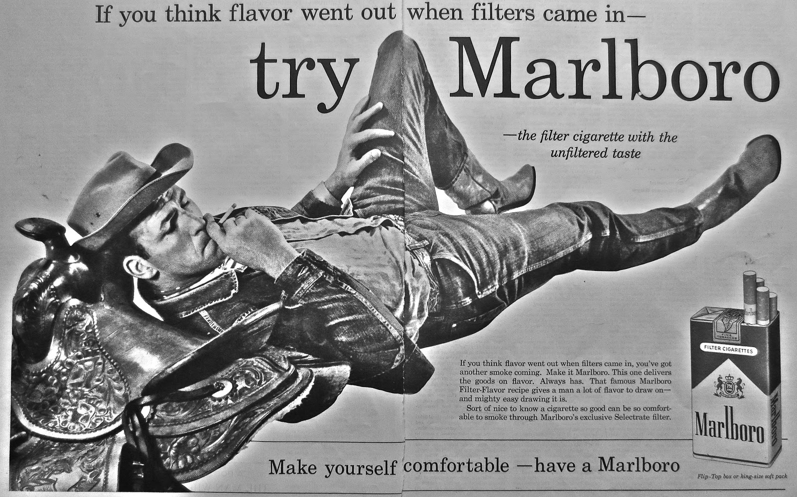 a history of the creation of marlboro advertisements The marlboro man is dead, but the campaign for tobacco-free kids and other anti-smoking advocacy groups released a report wednesday that says that the cigarette brand, owned by philip morris.