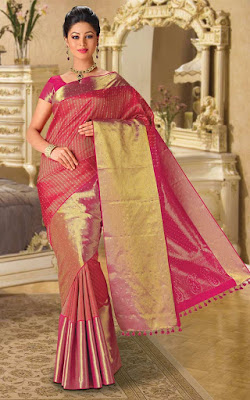 Latest-indian-bridal-lehenga-sarees-2017-with-new-blouse-designs-7