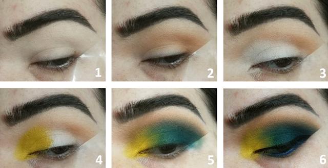 Teal and Mustard Makeup Tutoriel