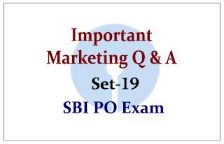 Important Marketing Questions- Set 19