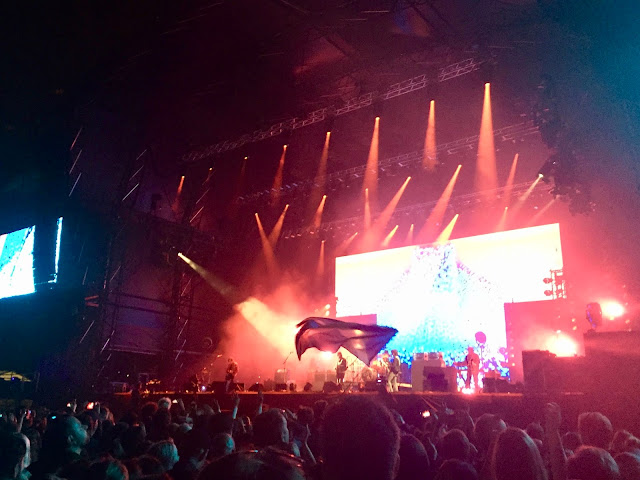 Kings of Leon performing at the 2018 Glasgow Summer Sessions, in Bellahouston Park