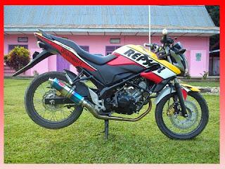 modifikasi cb150r facelift modifikasi cb150r putih merah