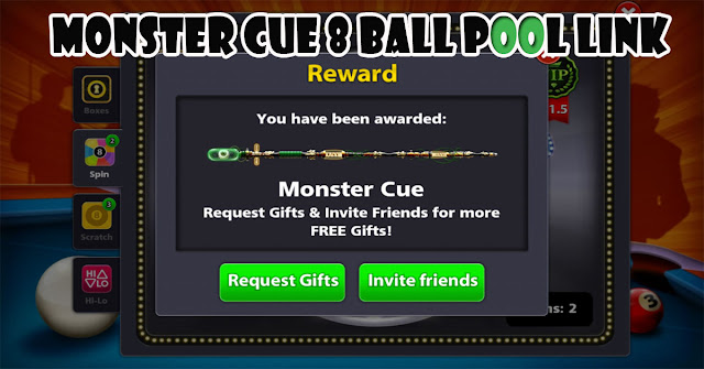 Monster Cue 8 ball pool Link