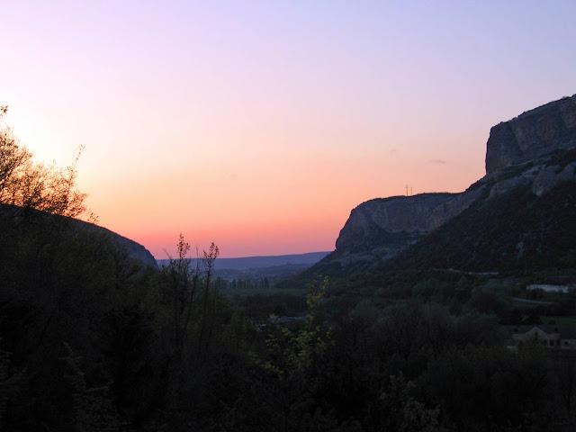 Бельбекский каньон, вечерние виды со стоянки
