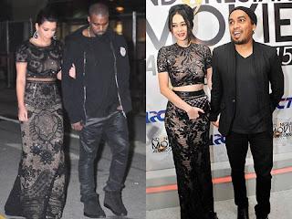 Aura Kasih Nyontek Gaya Busana Kim Kardashian?