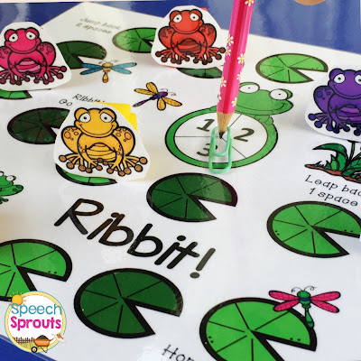 FREE! Hopping with frog and pond-themed fun, Ribbet! is a perfect open-ended game for your spring centers or small groups. By Speech Sprouts www.speechsprouts.com
