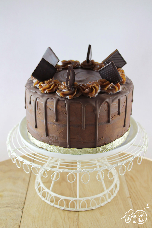 Layer cake chocolat cors et cr me de marrons une graine - Gateau chocolat creme de marron ...