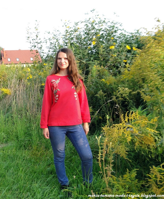 bluza damska jesień haft
